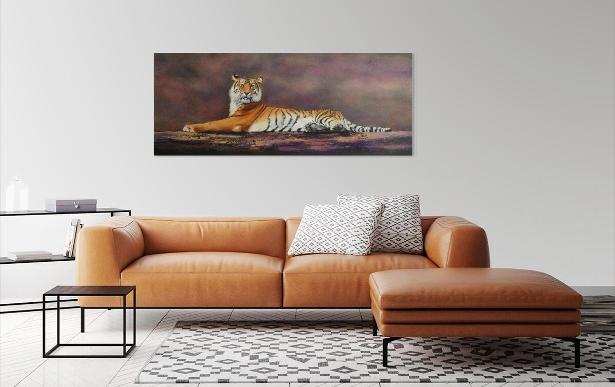 Painting of Tiger reclining