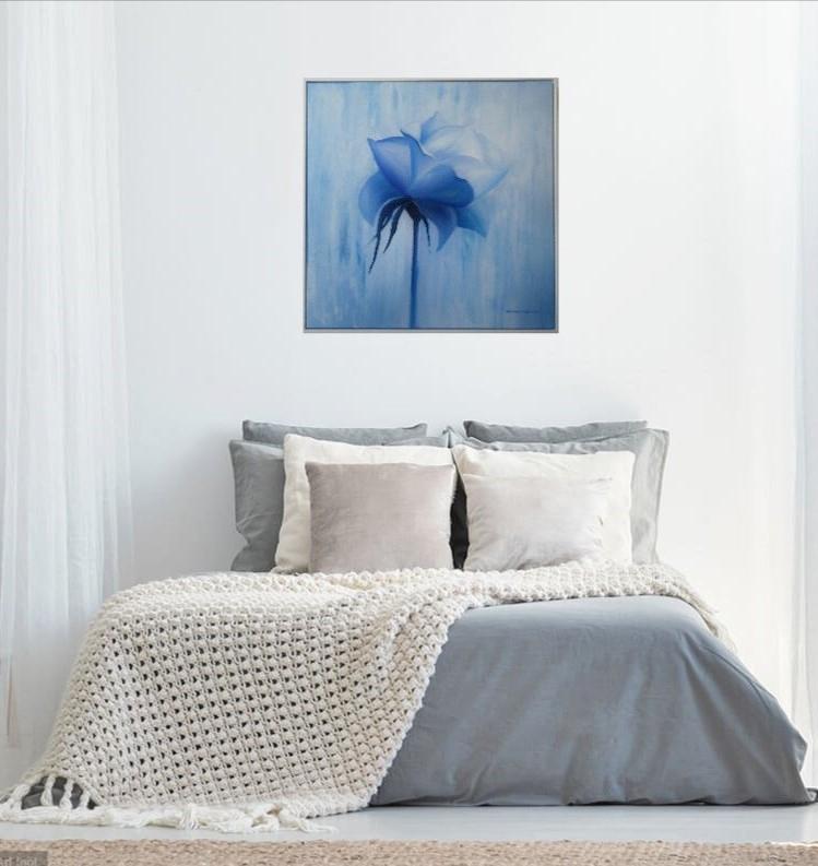 VISION IN BLUE BEDROOM