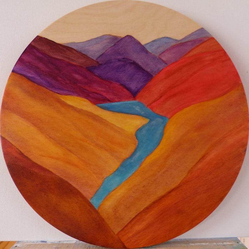acrylic-on-timber-with-clare-riddington-jones-meandering-stream-28cm-diametre-polyurethene-varnish_orig-min